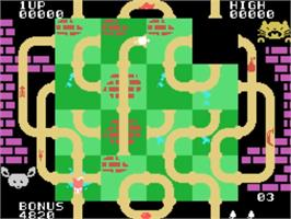 In game image of Mouse Puzzle on the VTech CreatiVision.