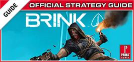 Banner artwork for BRINK: Prima Official Strategy Guide.