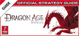 Banner artwork for Dragon Age: Origins Prima Official Strategy Guide.
