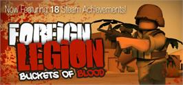 Banner artwork for Foreign Legion: Buckets of Blood.