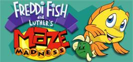 Banner artwork for Freddi Fish and Luther's Maze Madness.