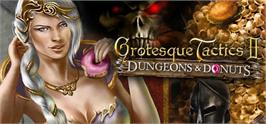 Banner artwork for Grotesque Tactics 2  Dungeons and Donuts.