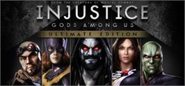 Banner artwork for Injustice: Gods Among Us Ultimate Edition.