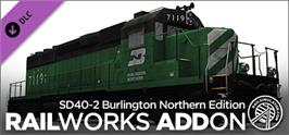 Banner artwork for RailWorks SD40-2 Burlington Northern Add-on.