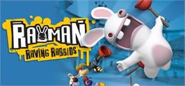 Banner artwork for Rayman Raving Rabbids.