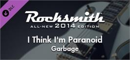 Banner artwork for Rocksmith® 2014  Garbage - I Think Im Paranoid.
