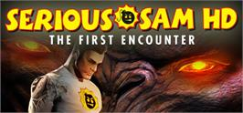Banner artwork for Serious Sam HD: The First Encounter.