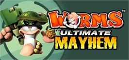 Banner artwork for Worms Ultimate Mayhem.