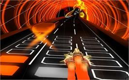In game image of AudioSurf on the Valve Steam.
