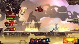 In game image of Awesomenauts on the Valve Steam.