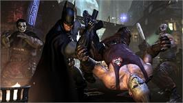 In game image of Batman: Arkham City on the Valve Steam.