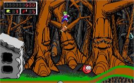 In game image of Commander Keen on the Valve Steam.
