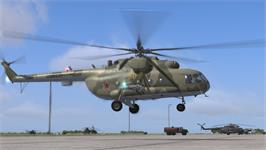 In game image of DCS: Mi-8 MTV2 Magnificent Eight on the Valve Steam.
