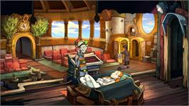 In game image of Deponia on the Valve Steam.