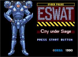 In game image of ESWAT: City Under Siege on the Valve Steam.