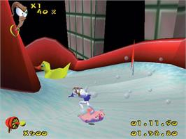 In game image of Earthworm Jim 3D on the Valve Steam.