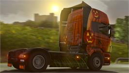 In game image of Euro Truck Simulator 2 - Halloween Paint Jobs Pack on the Valve Steam.