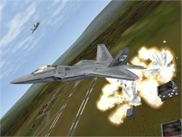 In game image of F-22 Lightning 3 on the Valve Steam.