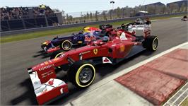 In game image of F1 2012 on the Valve Steam.