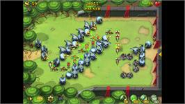 In game image of Fieldrunners on the Valve Steam.
