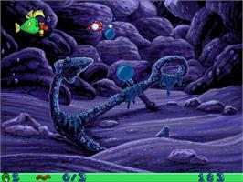 In game image of Freddi Fish and Luther's Water Worries on the Valve Steam.