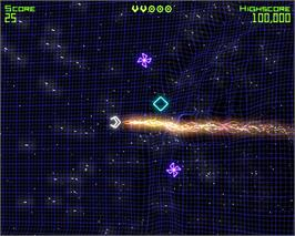 In game image of Geometry Wars: Retro Evolved on the Valve Steam.