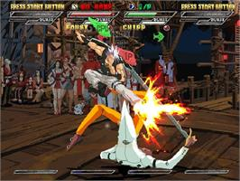 In game image of Guilty Gear Isuka on the Valve Steam.