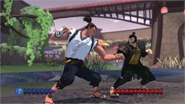 In game image of Karateka on the Valve Steam.
