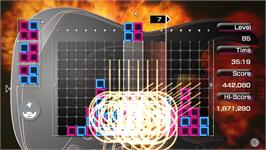 In game image of LUMINES on the Valve Steam.