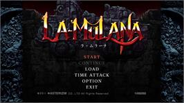 In game image of La-Mulana on the Valve Steam.