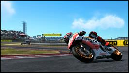 In game image of MotoGP13 on the Valve Steam.