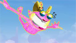 In game image of Ms. Splosion Man on the Valve Steam.