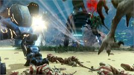 In game image of ORION: Dino Beatdown on the Valve Steam.