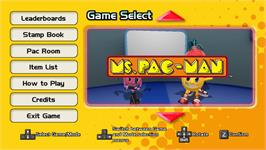 In game image of PAC-MAN MUSEUM - Ms. PAC-MAN DLC on the Valve Steam.