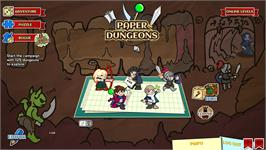 In game image of Paper Dungeons on the Valve Steam.