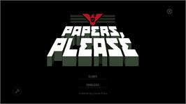 In game image of Papers, Please on the Valve Steam.