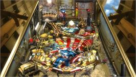 In game image of Pinball FX2 - Captain America Table on the Valve Steam.