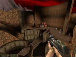 In game image of QUAKE II on the Valve Steam.