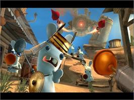 In game image of Rayman Raving Rabbids on the Valve Steam.