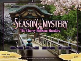 In game image of SEASON OF MYSTERY: The Cherry Blossom Murders on the Valve Steam.