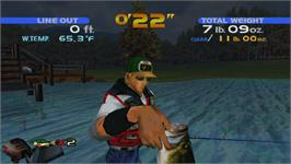 In game image of SEGA Bass Fishing on the Valve Steam.