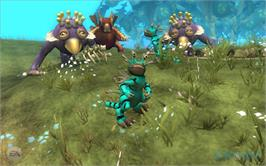 In game image of SPORE on the Valve Steam.