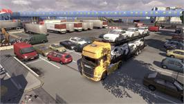 In game image of Scania Truck Driving Simulator on the Valve Steam.