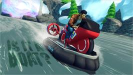 In game image of Sonic and All-Stars Racing Transformed: Ryo Hazuki on the Valve Steam.