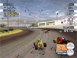 In game image of Sprint Cars Road to Knoxville on the Valve Steam.
