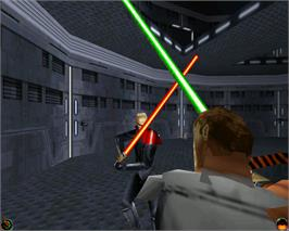 In game image of Star Wars Jedi Knight: Dark Forces II on the Valve Steam.