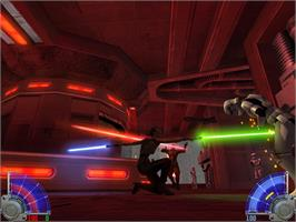In game image of Star Wars Jedi Knight: Jedi Academy on the Valve Steam.