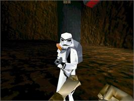 In game image of Star Wars Jedi Knight: Mysteries of the Sith on the Valve Steam.
