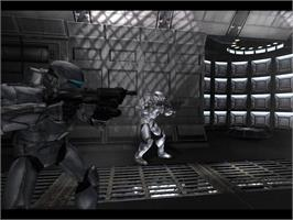 In game image of Star Wars Republic Commando on the Valve Steam.