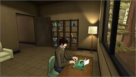 In game image of The Novelist on the Valve Steam.